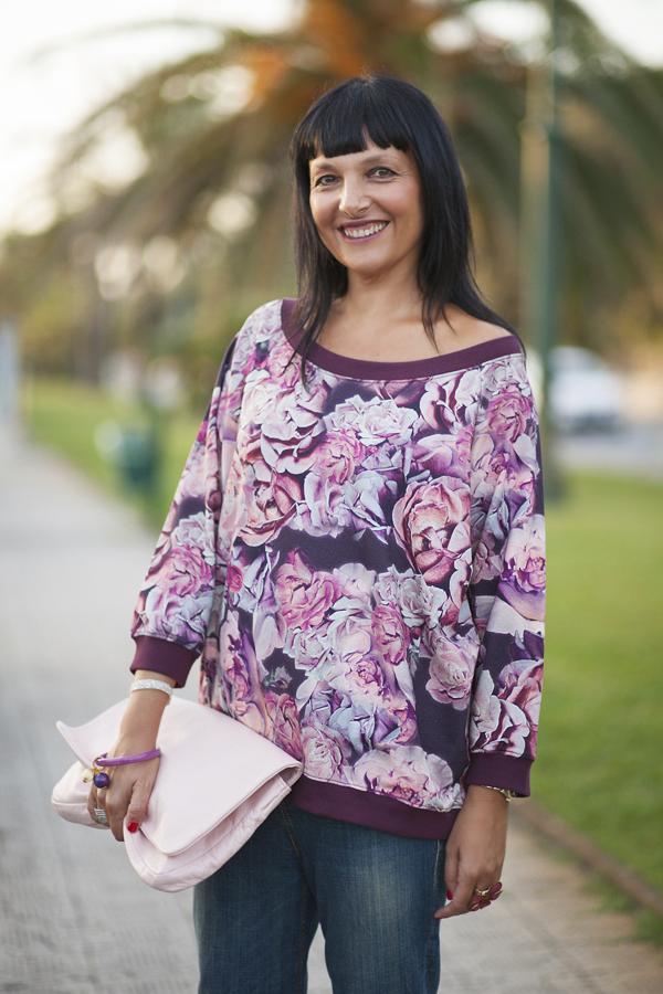 Smilingischic, fashion blog, dettagli felpa, colore amarena,  Motivi , F/W 20132014 Motivi,