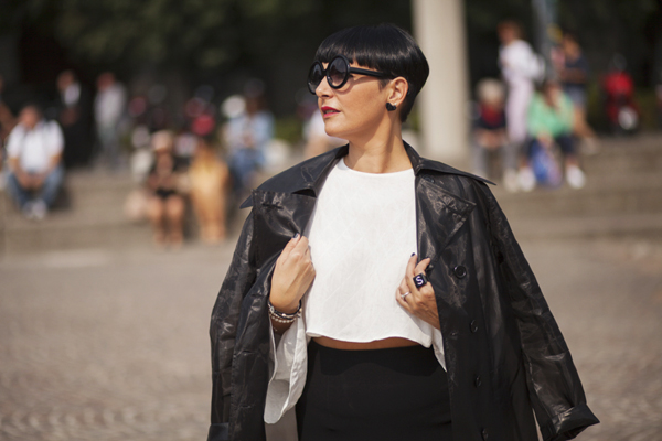 smilingischic, fashion blog, fashion week milanese, MFW, outfit, street style, black and white, zara,