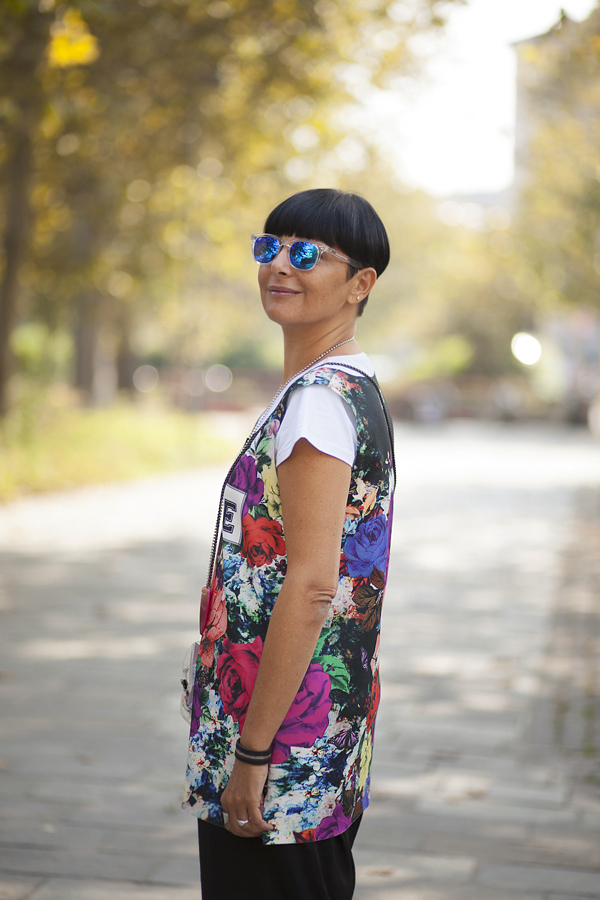 Smilingischic, fashion blog, MFW, milan fashion week, street style, outfit, Look the bright side , flowers, sunglasses specktre