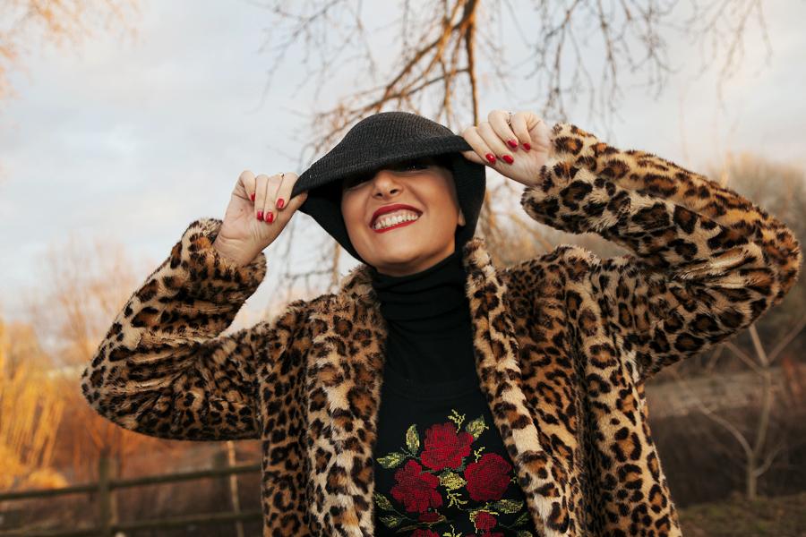 smilingischic, Fashion blog, outfit per le feste, targa e animalier, cappotto zara, Lara Ferretti, Smilingischic_Tartan_Animalier-1009