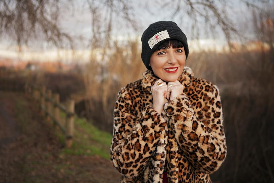 smilingischic, Fashion blog, outfit per le feste, targa e animalier, cappotto zara, Lara Ferretti, beante o bey propaganda, Smilingischic_Tartan_Animalier-1010