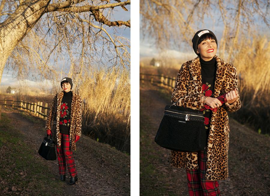 smilingischic, Fashion blog, outfit per le feste, targa e animalier, cappotto zara, Lara Ferretti, Nomination,