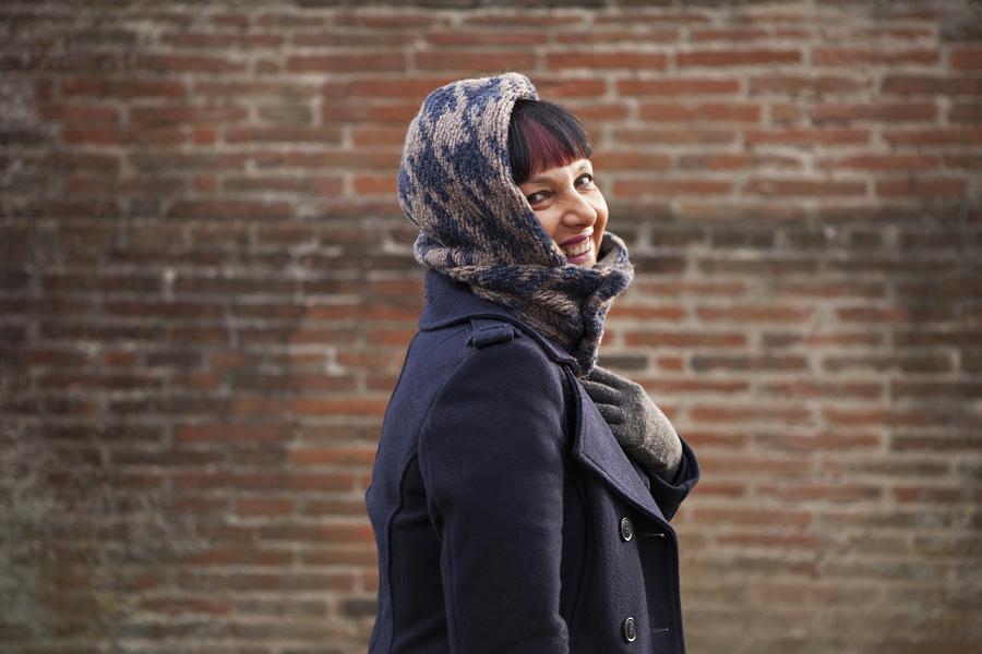 Smilingischic, fashion blog, M.art,  outfit, blue coat, dettaglio sciarpuccio,  Smile,Smilingischic-1009
