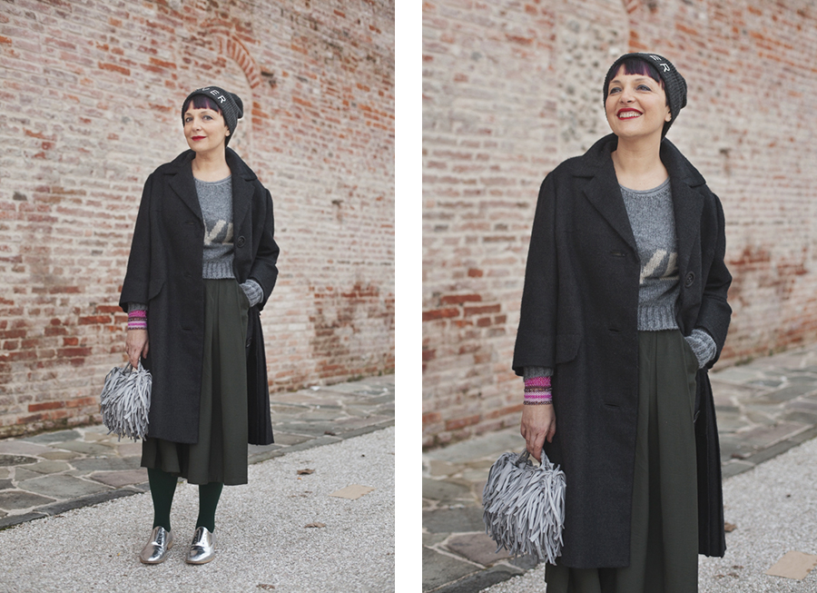 Smilingischic, fashion blog, Sandra Bacci, Whatever, gray , love, outfit, doppia