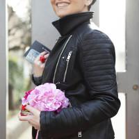 Smilingischic | Nora Scarpe di Lusso-1005, new capsule collection, borsa con fiori, giubbotto pelle nera Zara,