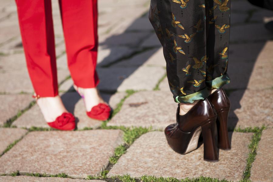 Smilingischic, fashion blog, dettagli, Jaquard francesi, dettaglio tessuto Giuliette Brown, Nora Scarpe di Lusso,