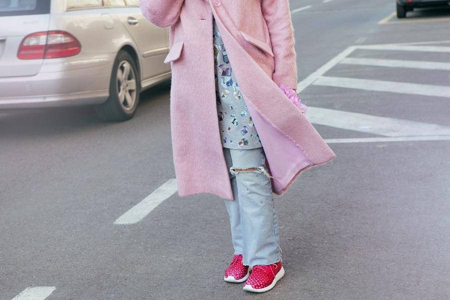 Smilingischic, fashion blog, outfit, pink coat, bijoux sodini, pink, cappotto Asos,