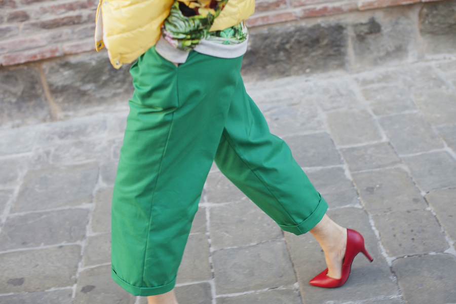 smilingischic- green pants - Dixie - tropical print