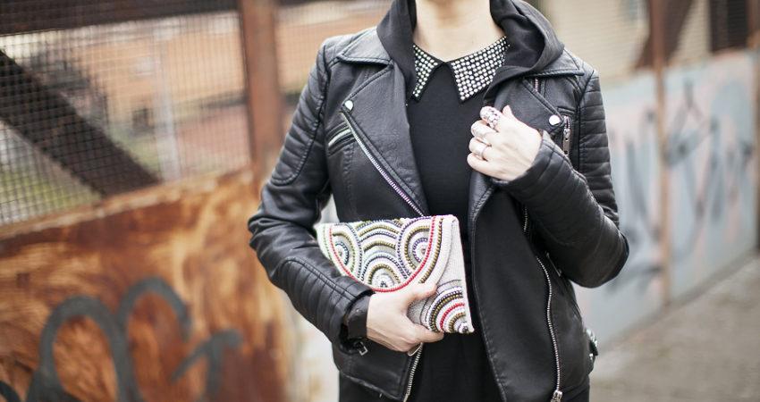 A happy mood in black Style | Ottaviani clutch
