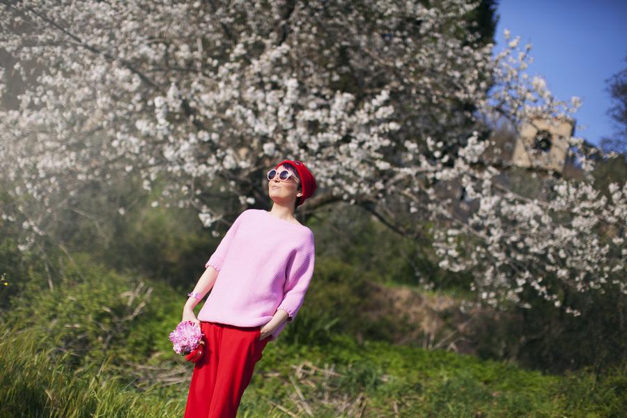 Smilingischic | Sandra Bacci | Fleur des Amis-1008 , pink ad red