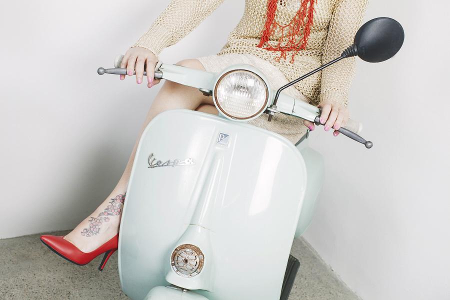Smilingischic -1004, fashion blog, Giorgia & Johns, collezione Primavera Esttare 2014, Vespa, tiffany, pin up girl,