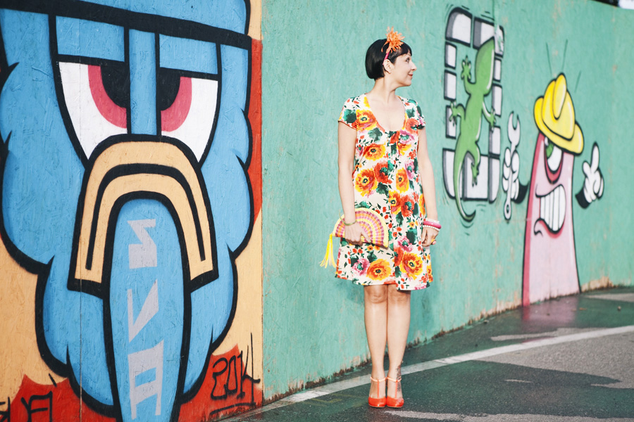My Bonbons Flower Power Edition, outfit, graffiti, semplicità