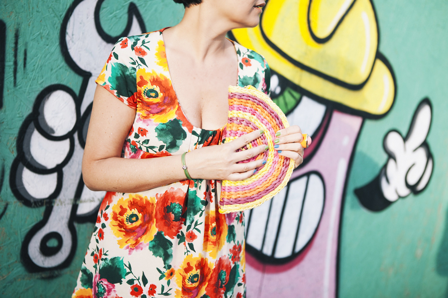 My Bonbons Flower Power Edition, outfit, graffiti, semplicità, dettaglio bracciale