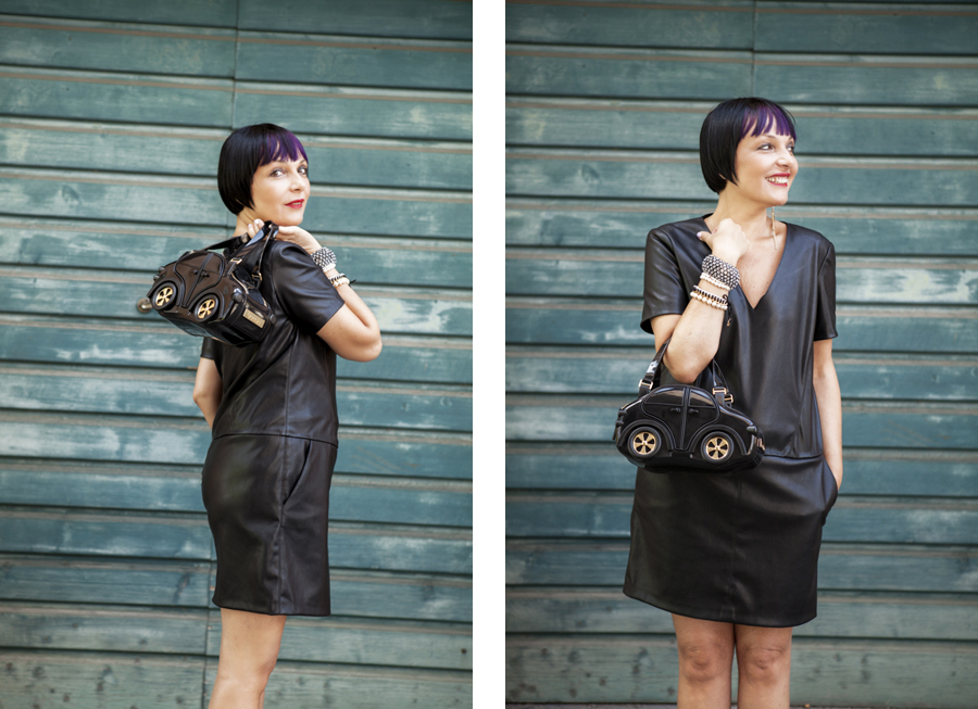 Smilingischic, fashion blog, Braccialini, Carina bag, Made in italy, borsa in PVC black, outfit