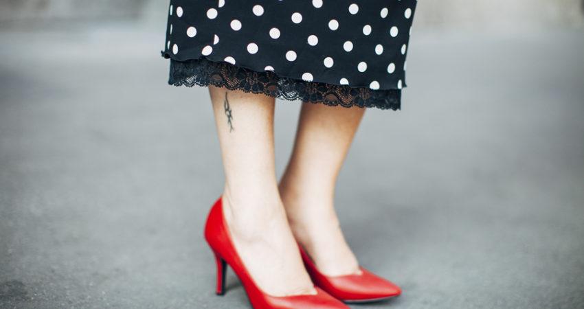 Polka-dot dress by D&G  How would you define femininity?