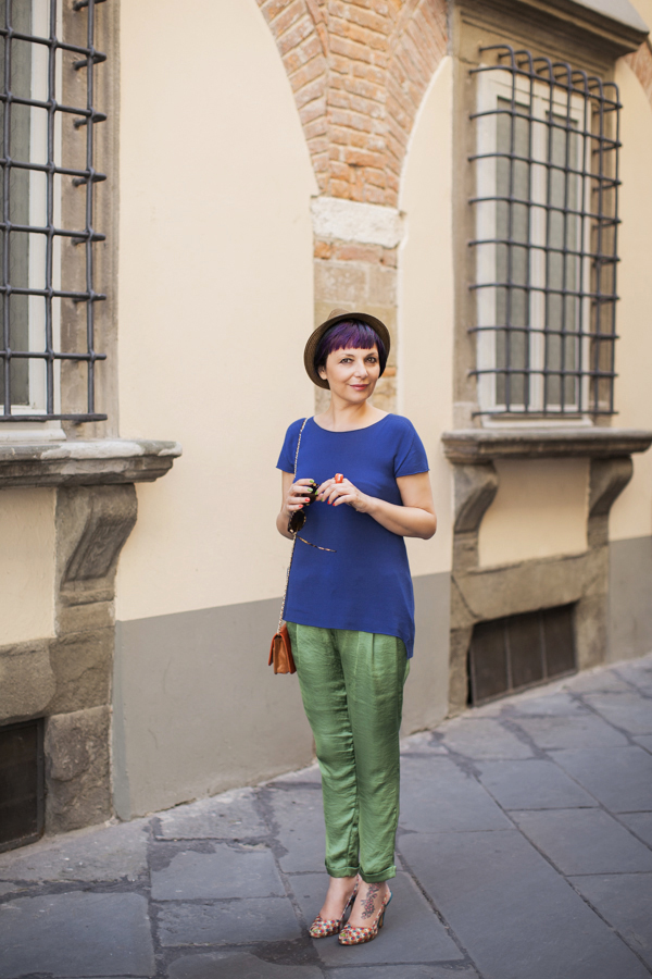 Smilingischic -1001, fashion blog, easy look, outfit, Miawish outfit , blue e verde
