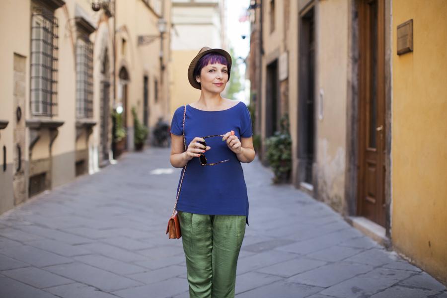 Smilingischic -1002, Outfit , summer in the city, look per la città, blue e verde , Mia Wish,