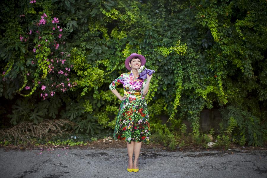 Smilingischic | Nara Camice-1003, stile floreale, Sandra Bacci, Cover me in flowers