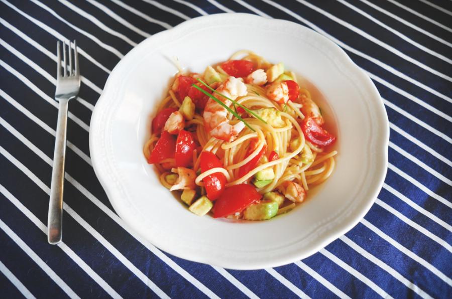 Smilingischic, Smiling in the Kitchen , Silvia Dall'Aglio, spaghetti_guacamole