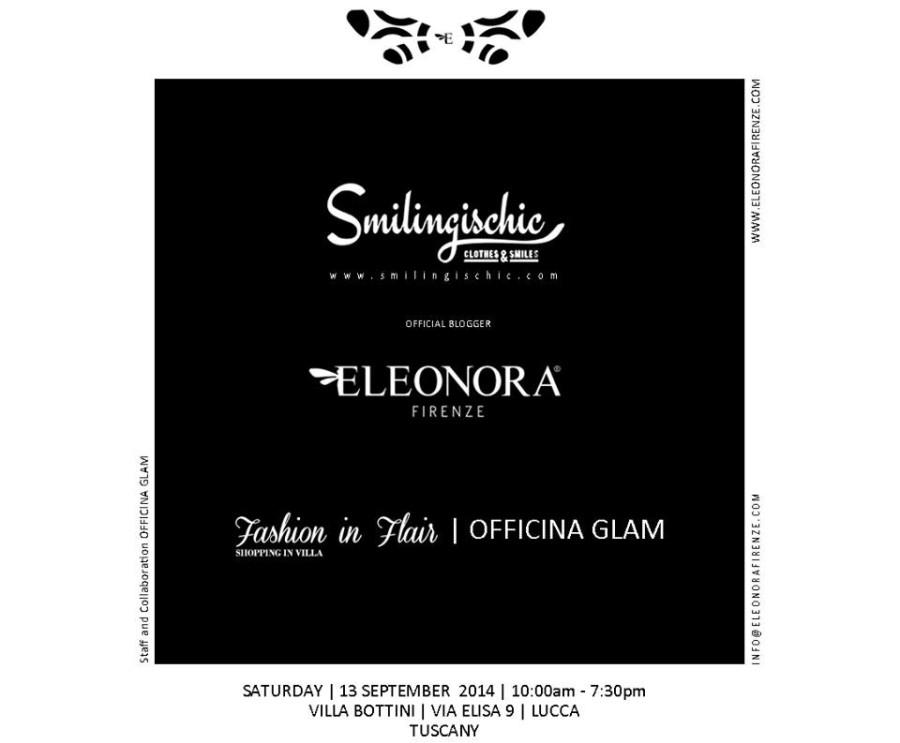 Smilingischic, banner presentazione nuova collezione Eleonora Firenze, collaborazione ,  blogger ufficiale dell'evento