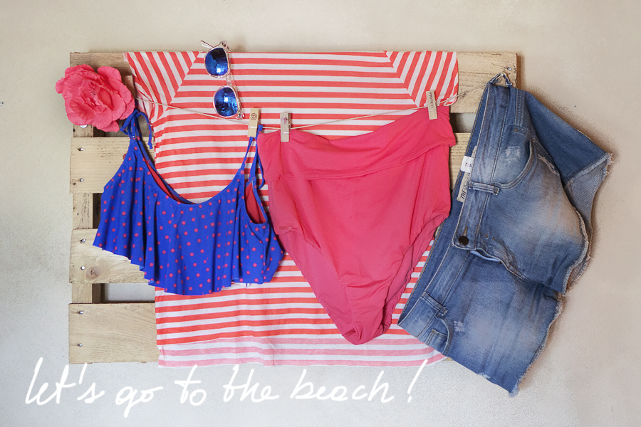 Smilingischic, Let's Go to the beach , pois blue and Coral