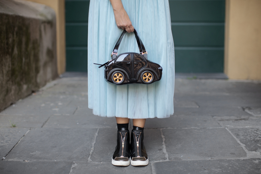 smilingischic, la vera me, gonna di tulle, CaRina bag, braccialini , dettagli Marc by Marc Jacobs