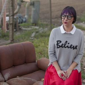 Smilingischic - Alero design-1002, occhiali da vista rotondi I believe, felpa grigia con colletto,