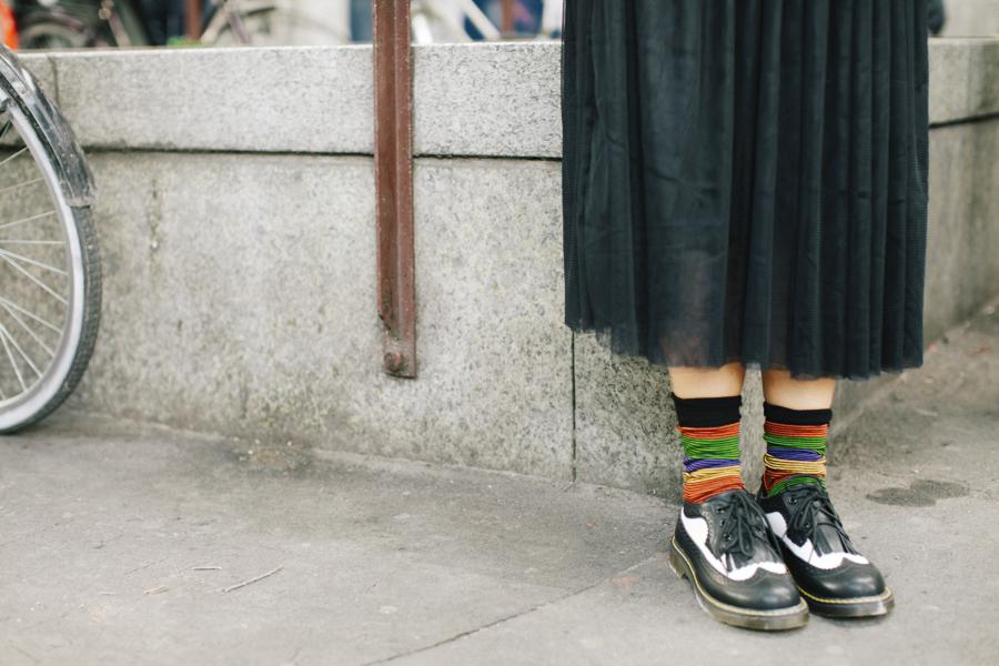 Smilingischic - Giulia Rositani-1001, stringate bicolore, calzini a righe