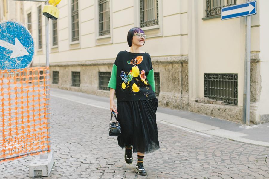 Smilingischic - Giulia Rositani-1003,Sandra Bacci, felpa con le uova, Milano fashion  week