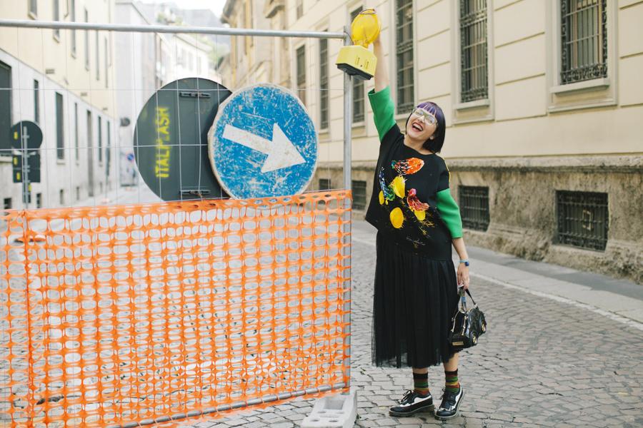Smilingischic - Giulia Rositani-1004, Sandra Bacci, felpa con le uova, Milano fashion  week