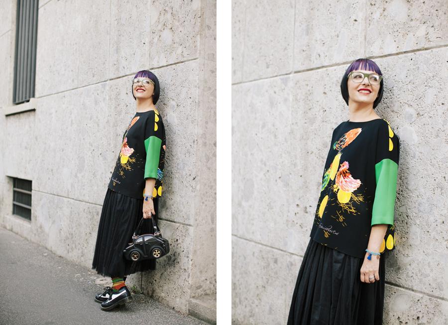 Smilingischic - Giulia Rositani-1007, Sandra Bacci, felpa con le uova, Milano fashion  week