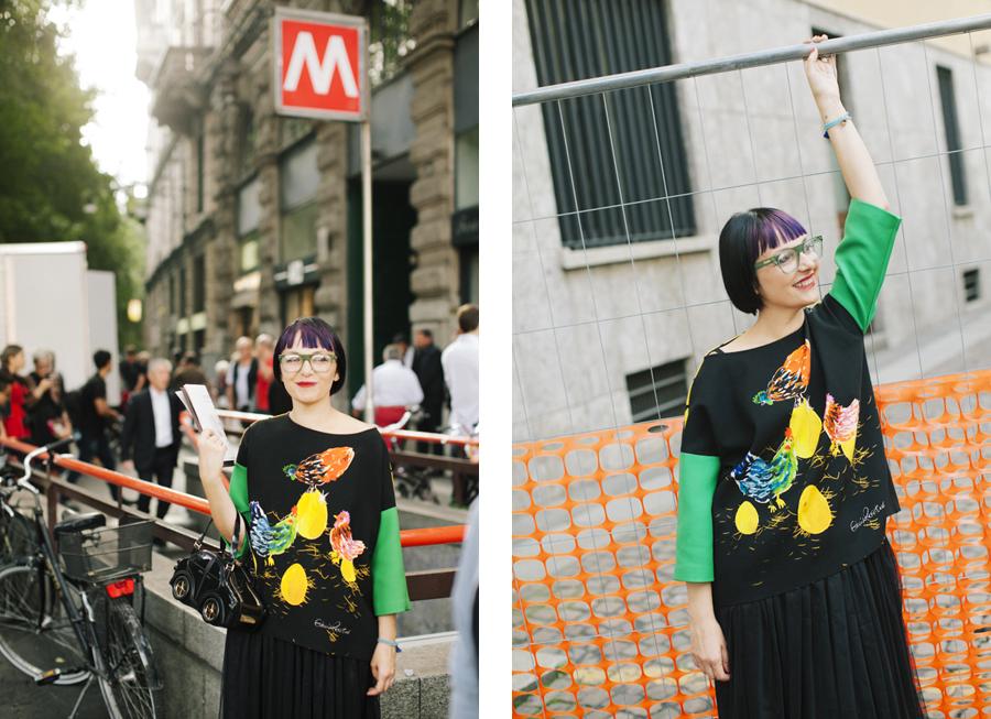 Smilingischic - Giulia Rositani-1010-2, Sandra Bacci, felpa con le uova, Milano fashion  week