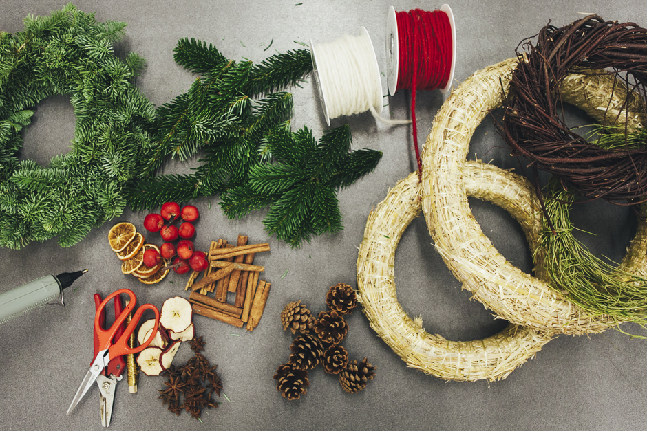 Ghirlanda-Natale-1005, Smilingischic, addobbi natalizi, tutorial per ghirlanda