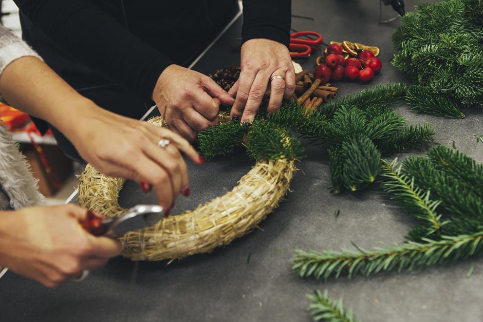 Ghirlanda-Natale-1007,  Smilingischic, addobbi natalizi, tutorial per ghirlanda