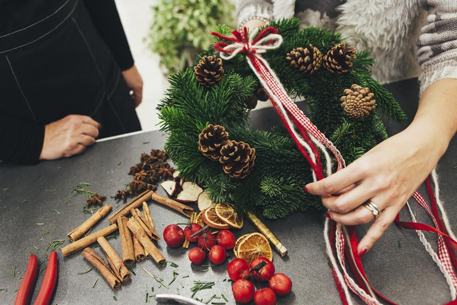 Ghirlanda-Natale-1014,  Smilingischic, addobbi natalizi, tutorial per ghirlanda