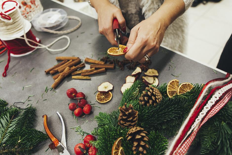 Ghirlanda-Natale-1015,  Smilingischic, addobbi natalizi, tutorial per ghirlanda