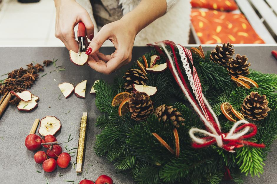 Ghirlanda-Natale-1017,  Smilingischic, addobbi natalizi, tutorial per ghirlanda