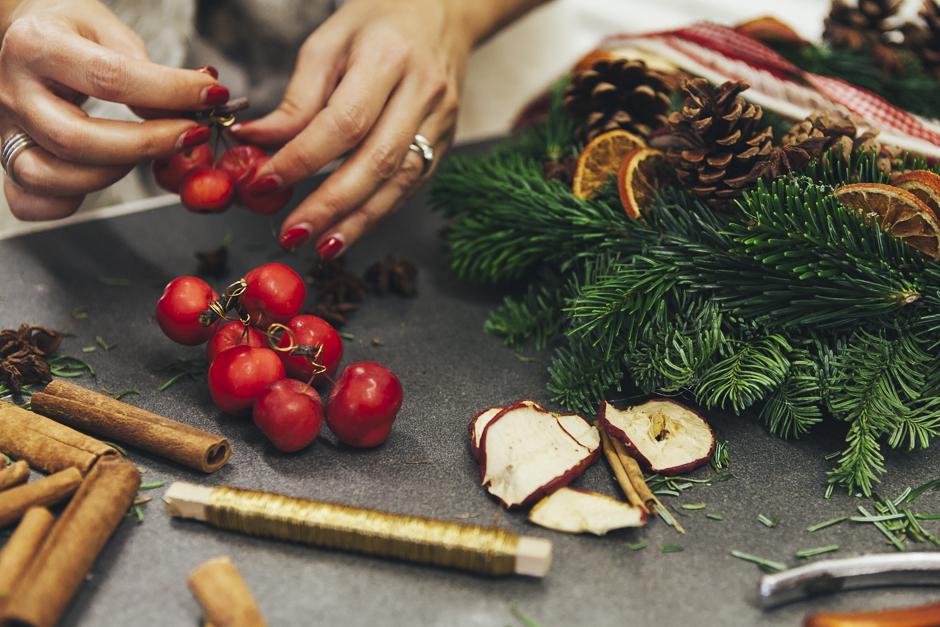 Ghirlanda-Natale-1018,  Smilingischic, addobbi natalizi, tutorial per ghirlanda