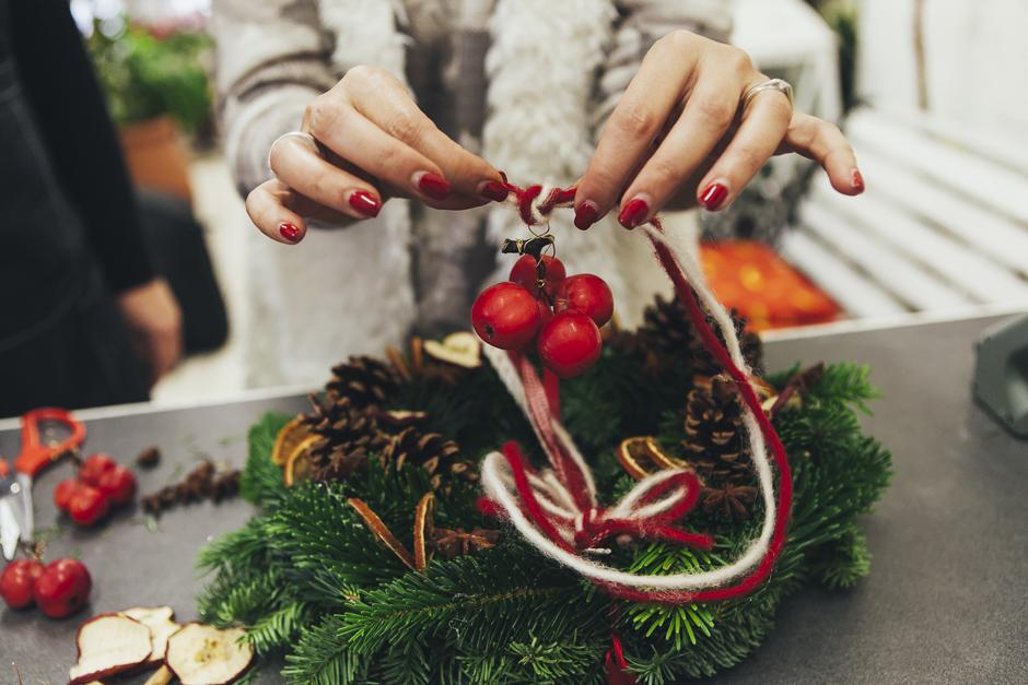 Ghirlanda-Natale-1019,  Smilingischic, addobbi natalizi, tutorial per ghirlanda