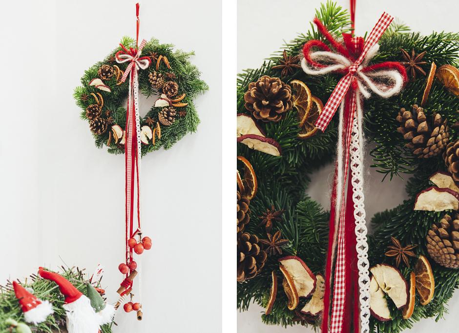Ghirlanda-Natale-1026,  Smilingischic, addobbi natalizi, tutorial per ghirlanda