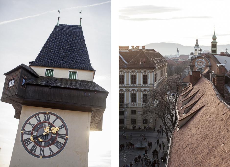 Sandra Bacci-Smilingischic-1007, Torre dell'orologio di Graz, Tetti di Graz