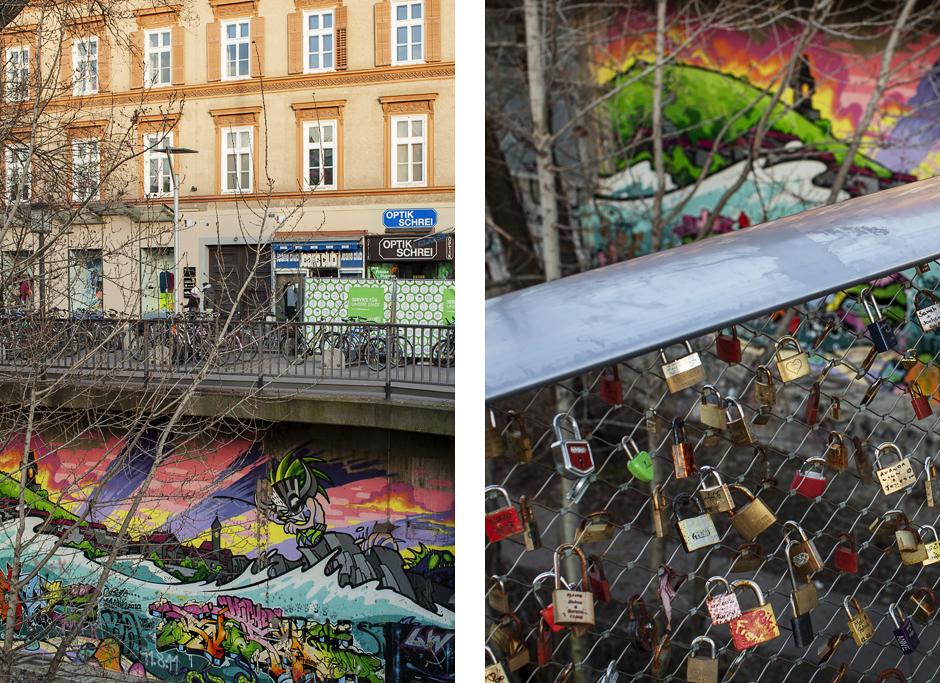 Sandra Bacci-Smilingischic-1, Graz, fiume Amur, ponte dei lucchetti, Graffiti013