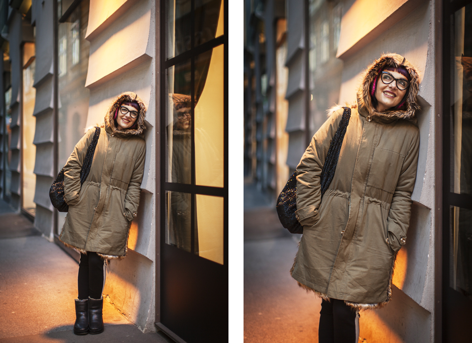 Sandra Bacci-Smilingischic-1, Visita a Graz, Austria, parka Essentiel