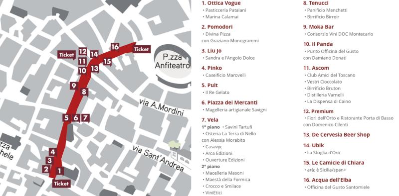 Extra Lucca 2015, Programma Fillungo Food
