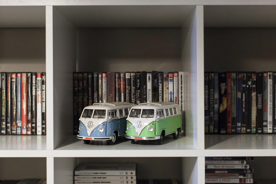 design italiano anni 60, modellini di Van Volkswagen