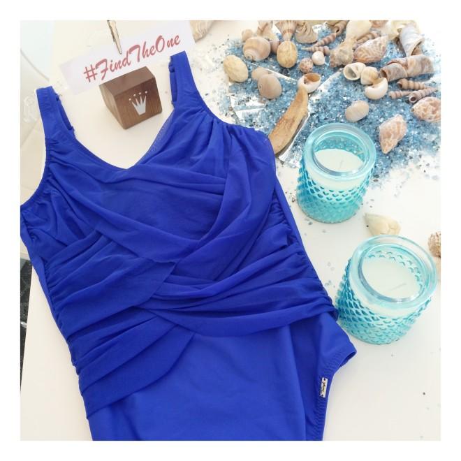 linea da mare Triumph, costume intero blue