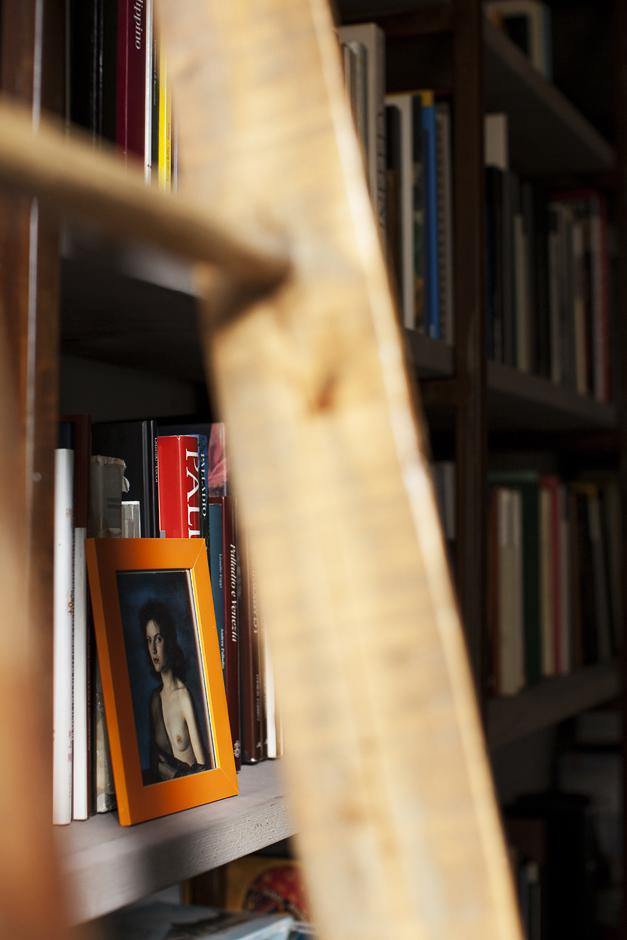 abitazione di un architetto, libreria