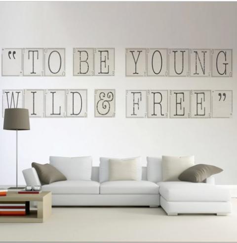 Love the sign stickers da parete personalizzati - Stickers da parete personalizzati ...