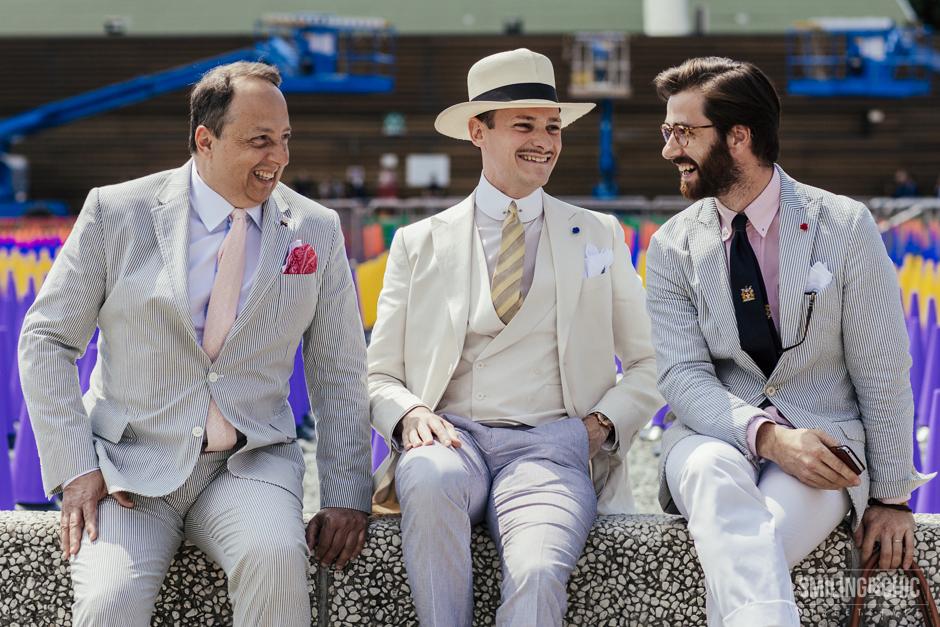 dandy style, total white , Pitti Uomo, street style