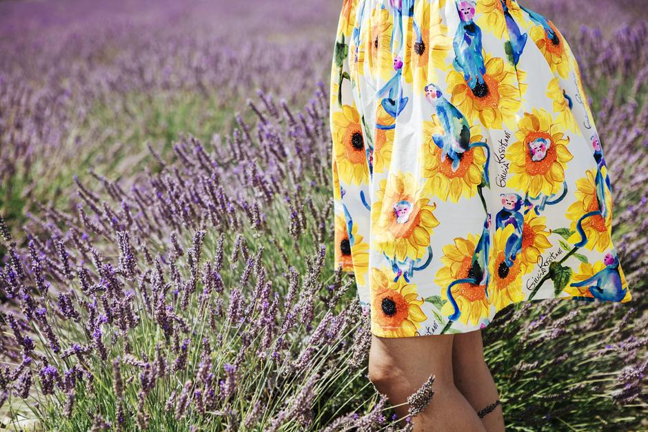 Abito con i Girasoli,  Giulia Rositani, , campi di lavanda in fiore